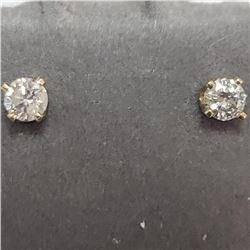 14K Yellow Gold Diamond(0.14ct) Earrings, Suggested Retail Value $600 (Estimated Selling Price from