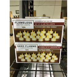 Inglow 24 Flameless LED Tea Lights Lot of 2