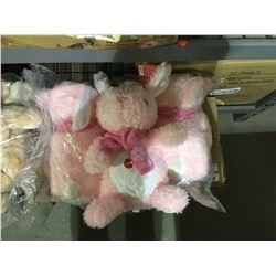"Bag of 6 PetSmart 2019 ""Hope"" Bunny Plush Toys"