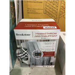 "Brookstone Heated Throw Blanket (50"" x 60"")"