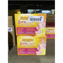 Emergen-C Pink Lemonade 30 Sachets Lot of 2