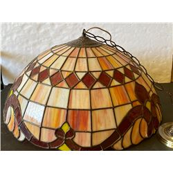 ORIGINAL MOTHER'S PIZZA TIFFANY STYLE HANGING LAMP
