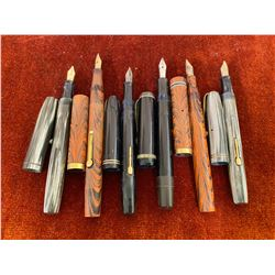 LOT OF 6 FOUNTAIN PENS