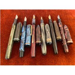 LOT OF 6 ECLIPSE FOUNTAIN PENS