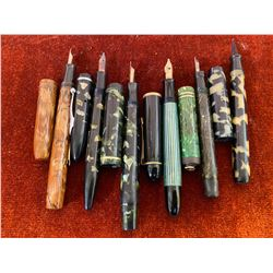 LOT OF 6 VINTAGE FOUNTAIN PENS