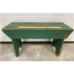 PAINTED WOOD BENCH