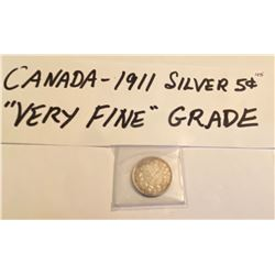 1911 CND SILVER 5 CENTS
