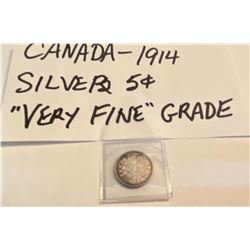 1914 CND SILVER 5 CENTS