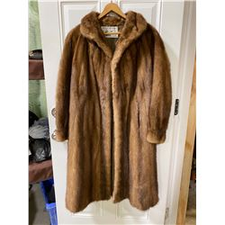 LADIES SIZE 12 CANADIAN MINK FULL LENGTH COAT