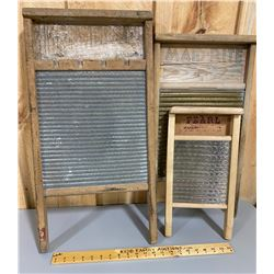 LOT OF 3 WASHBOARDS