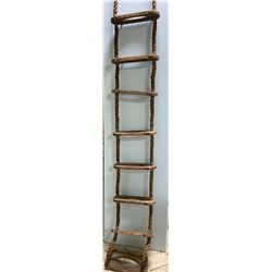 ANTIQUE ROPE LADDER - APPROX 8'