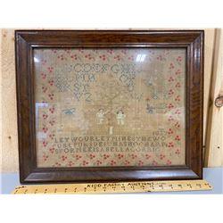 FRAMED 1837 CROSS STITCH