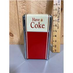 VINTAGE COKE NAPKIN HOLDER - RESTAURANT STYLE