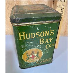 HUDSON'S BAY CO TEA TIN WITH GOOD GRAPHICS