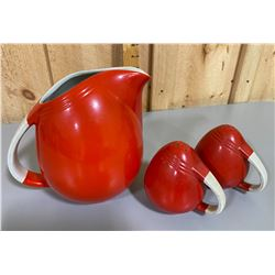 HALL'S ART DECO PITCHER & SHAKERS