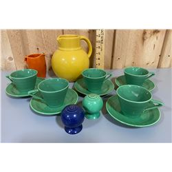 LOT OF 7 PCS OF FIESTA LOOK ALIKE DISHES