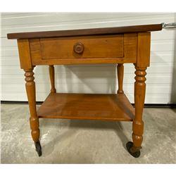 ANTIQUE SERVING SIDE TABLE