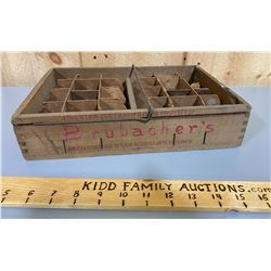 ANTIQUE EGG CRATE WITH GOOD STENCILING