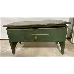 ANTIQUE PAINTED STORAGE BENCH