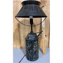 FOLK ART LAMP W/ FUEL CAN BASE