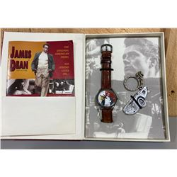 BOXED JAMES DEAN WATCH SET BY FOLLIL - AS NEW