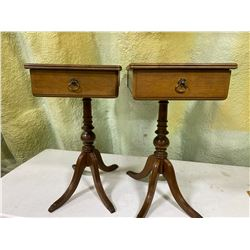 SET OF 2 ANTIQUE END TABLES