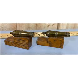 SET OF BASS CANNON BOOKENDS