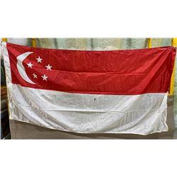 SINGAPORE FLAG - SILK 3' X 6'