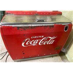 COCA-COLA COOLER - VINTAGE STORE SIZE MODEL