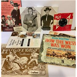 COWBOY TV THEMED LOT - INCLUDING 1962 'HOW TO MAKE A HOLSTER' BOOK.