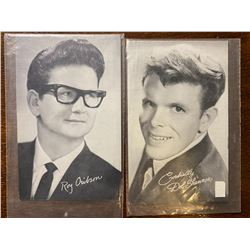 LOT OF 2 BILLBOARD COLLECTIBLE CARDS - DEL SHANNON & ROY ORBISON