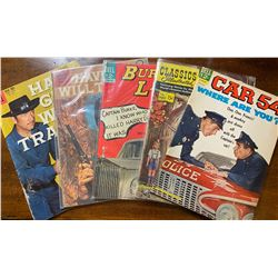 LOT OF 5 1960's COMICS - DELL - 10, 12 & 15 CENT EDITIONS