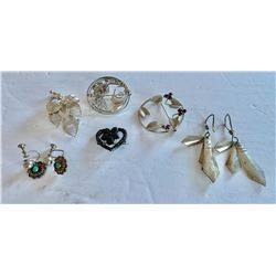 MISC SILVER JEWELRY LOT