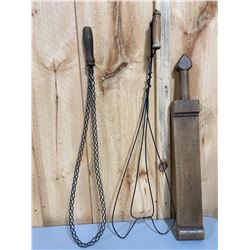LOT OF 3 RUG BEATERS
