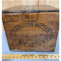 CANADIAN BUTTER BOX WITH LID - MANITOBA 398