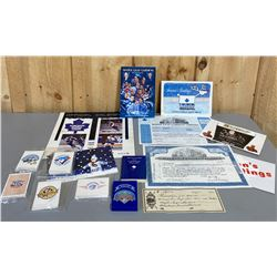 QTY OF TORONTO MAPLE LEAFS & BLUE JAYS COLLECTIBLES