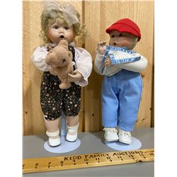 SET OF 2 COLLECTIBLE DOLLS