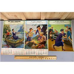 LOT OF 3 1960's GUEST HARDWARE CALENDARS