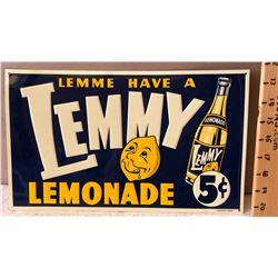 LEMMY LEMONADE TIN SIGN