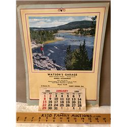 1950 MCCOLL FRONTENAC CALENDAR FROM PARRY SOUND - COMPLETE