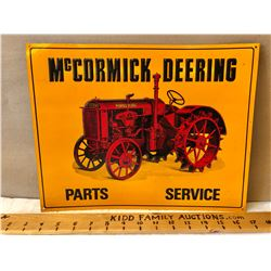 MCCORMICK DEERING PARTS SERVICE TIN SIGN