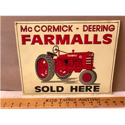 MCCORMICK-DEERING FARMALLS TIN SIGN