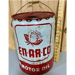 EN-AR-CO MOTOR OIL PAIL - 5 GAL
