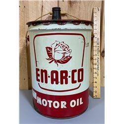 EN-AR-CO / WHITE ROSE 5 GAL MOTOR OIL PAIL