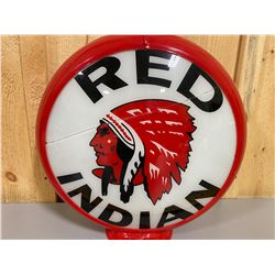 RED INDIAN / TEXACO REPRO GAS PUMP GLOBE
