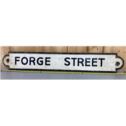 FORGE STREET - HEAVY CAST ROAD SIGN