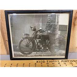 FRAMED 1914 NORTON MOTORBIKES PHOTO