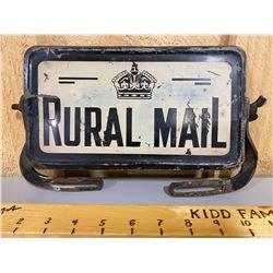 RURAL MAIL METAL SIGN