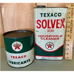 TEXACO - MARFAK & SOLVEX TINS