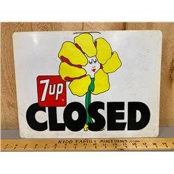 7-UP OPEN / CLOSED STORE SIGN - PLASTIC
